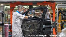Coronavirus in China Changchun Autoproduktion VW FAW Werk