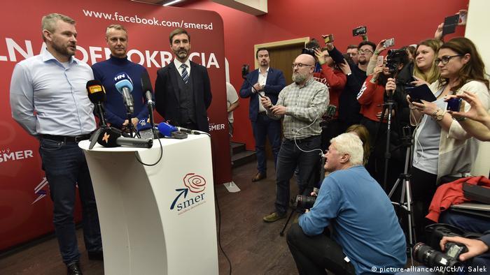 Slowakei Parlamentswahl Smer-SD-Partei