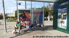 Obdachlose in Zagreb