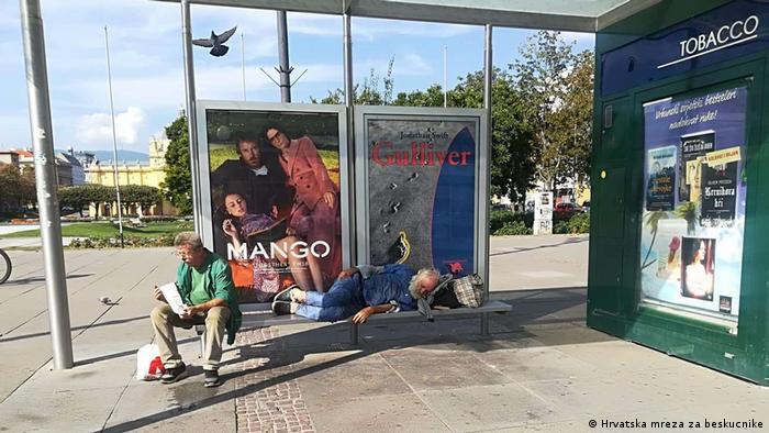 Kroatien Obdachlose in Zagreb