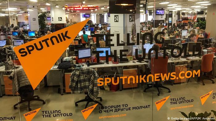 Sputnik, la agencia de noticias rusa acusada de difundir presuntas noticias como verdaderas y teorías de la conspiración.