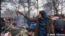 Flüchtlinge in Edirne Wer hat diese Fotos gemacht: Tunca Öğreten, DW Türkçe Wann: 29.02.2020 Wo. In Istanbul