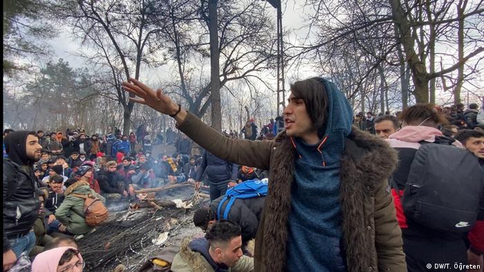 پناهجویان در منطقه مرزی ترکیه و یونان