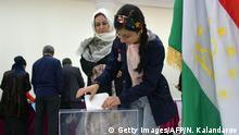 Tadschikistan Parlamentswahl 2020 | Stimmabgabe in Duschanbe