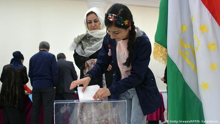 Голосование на выборах в Душанбе