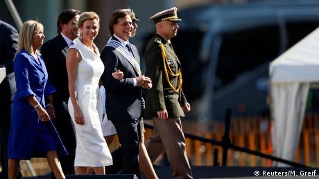 Luis Lacalle Pou em cerimônia de posse no Uruguai