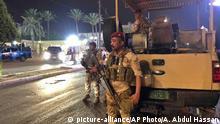 Bagdad Sicherheitskräfte vor Botschaft Bahrain