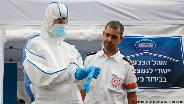 Israel Tel Aviv Parlamentswahlen Coronavirus (picture-alliance/Xinhua/G. Markowicz)