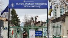 Matei Bals 01 Caption: Das Matei Bals Institut für Infektionskrankheiten ist die erste nationale Quarantäne für Coronavirus-Fälle, Bukarest, 01 März 2020