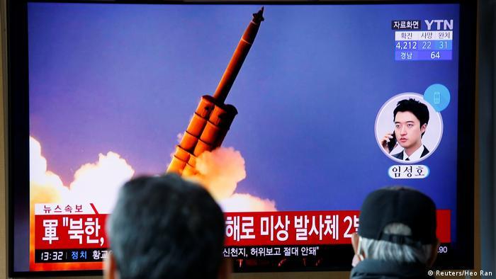 Телебачення Південної Кореї повідомляє про запуск ракет КНДР