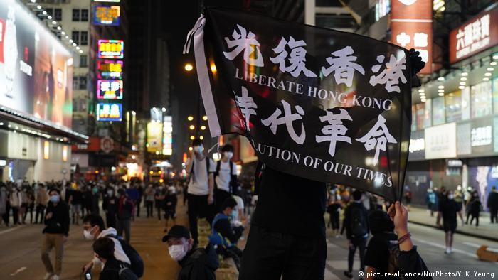 Protest gegen die Regierung in Hongkong