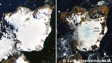 Antarctica Melts Under Its Hottest Days on Record (Earth Observatory/ NASA)