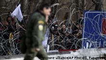Griechenland Kastanies Flüchtlinge an der Grenze der Türkei zu Griechenland