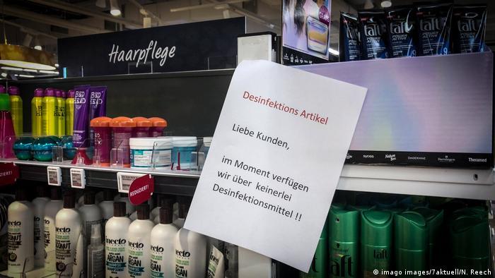 Hamsterkäufe im Kreis Ludwigsburg: Leerstehende Regale