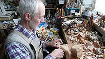 Herbert Haseidl in his workshop