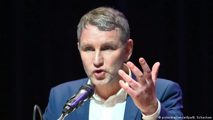 Thuringia regional leader Björn Höcke (picture-alliance/dpa/B. Schackow)