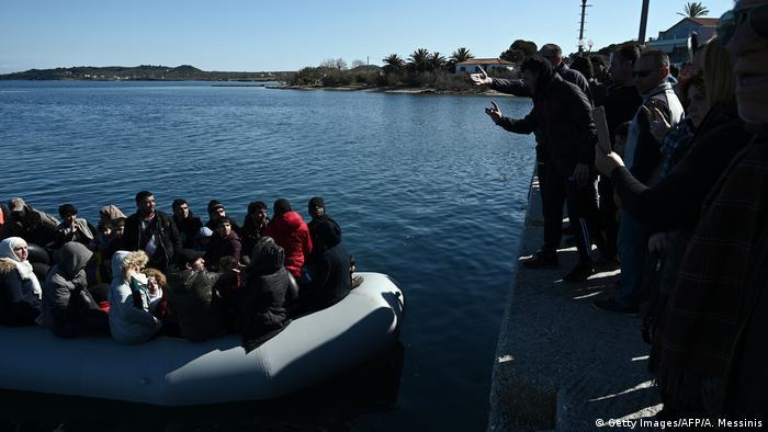 BG Flüchtlingskrise Griechenland/Türkei (Getty Images/AFP/A. Messinis)