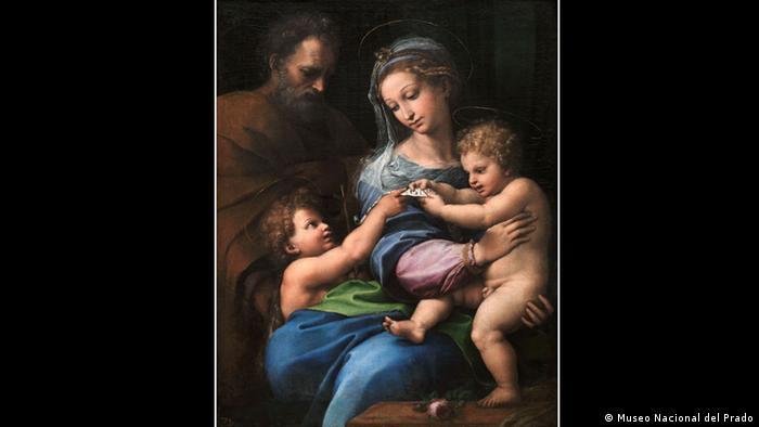 Във Флоренция Рафаело изучава творчеството на Леонардо да Винчи и Микеланджело. Мотивът с Богородица се среща и в късната фаза от творчеството му, когато Рафаело има голям брой ученици, които обучава в ателието си. За някои от произведенията му и до днес не е изяснено кои детайли са изработени лично от Рафаело и кои от негови ученици.