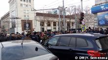 Moldawien Demonstranten im Zentrum von Chisinau