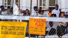 Guyana Parlamentswahlen Wahllokal