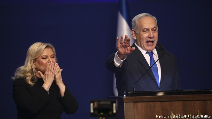 Israel Wahlen Benjamin Netanjahu (picture-alliance/AP Photo/D. Balilty)