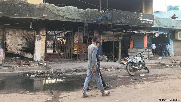 Indien Fotoreportage aus Neu Delhi nach den Ausschreitungen