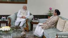 **EDS: TWITTER IMAGE RELEASED BY @PBNS_India, JAN. 11, 2020** Kolkata: Prime Minister Narendra Modi with West Bengal CM Mamata Banerjee during a meeting in Kolkata. (PTI Photo)(PTI1_11_2020_000097B)