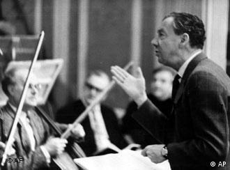 Benjamin Britten during rehearsals for War Requiem (c) AP