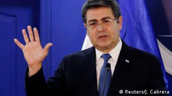 El presidente de Honduras Juan Orlando Hernández