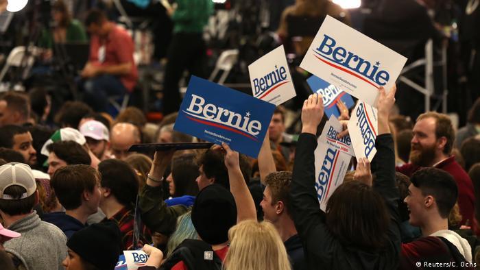 USA Super Tuesday   Bernie Sanders-Fans in Vermont