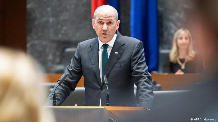 Slowenien Konservativer Politiker Konservativer Politiker Janez Jansa als Regierungschef vereidigt (AFP/J. Makovec)