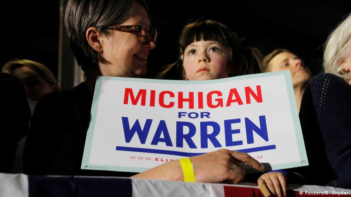 USA Super Tuesday | Elizabeth Warren in Michigan (Reuters/B. Snyder)