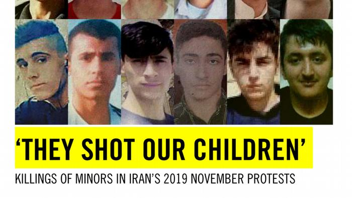 Cover Amnesty International They shot our children