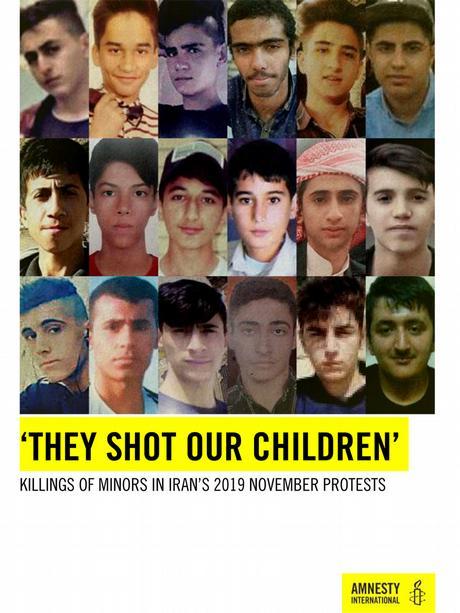 Das Cover eines früheren Amnesty-Berichts über bei den Protesten getötete Kinder und Jugendliche