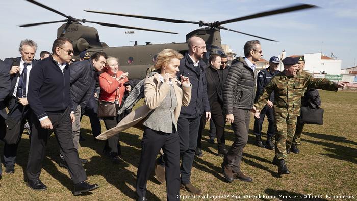 Председатель Еврокомиссии Урсула фон дер Ляйен прилетела в Грецию, чтобы ознакомиться с ситуацией с беженцами