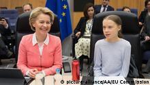Brüssel | EU-Kommission: Ursula von der Leyen neben Greta Thunberg