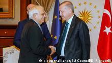 Türkei Ankara | EU-Vertreter Jospep Borrell und Recep Tayyip Erdogan
