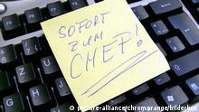 Symbolbild: Sofort zum Chef | Verwendung weltweit