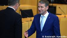 Thüringen Erfurt Landtag Ministerpräsident Ramelow verweigert Höcke Handschlag
