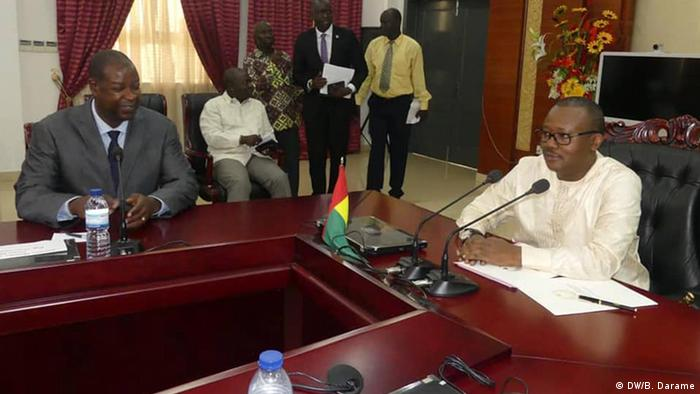 Guinea-Bissau Bissau Kabinettsitzung mit Präsident Umaro Sissoco Embaló (DW/B. Darame)