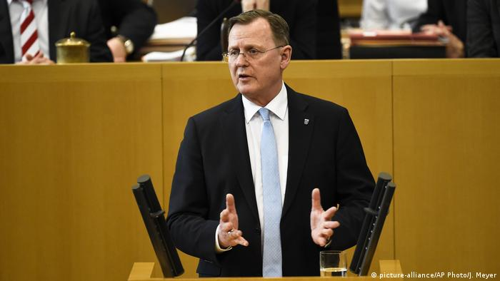 Thüringen Erfurt Landtag Vereidigung Ministerpräsident Ramelow Die Linke