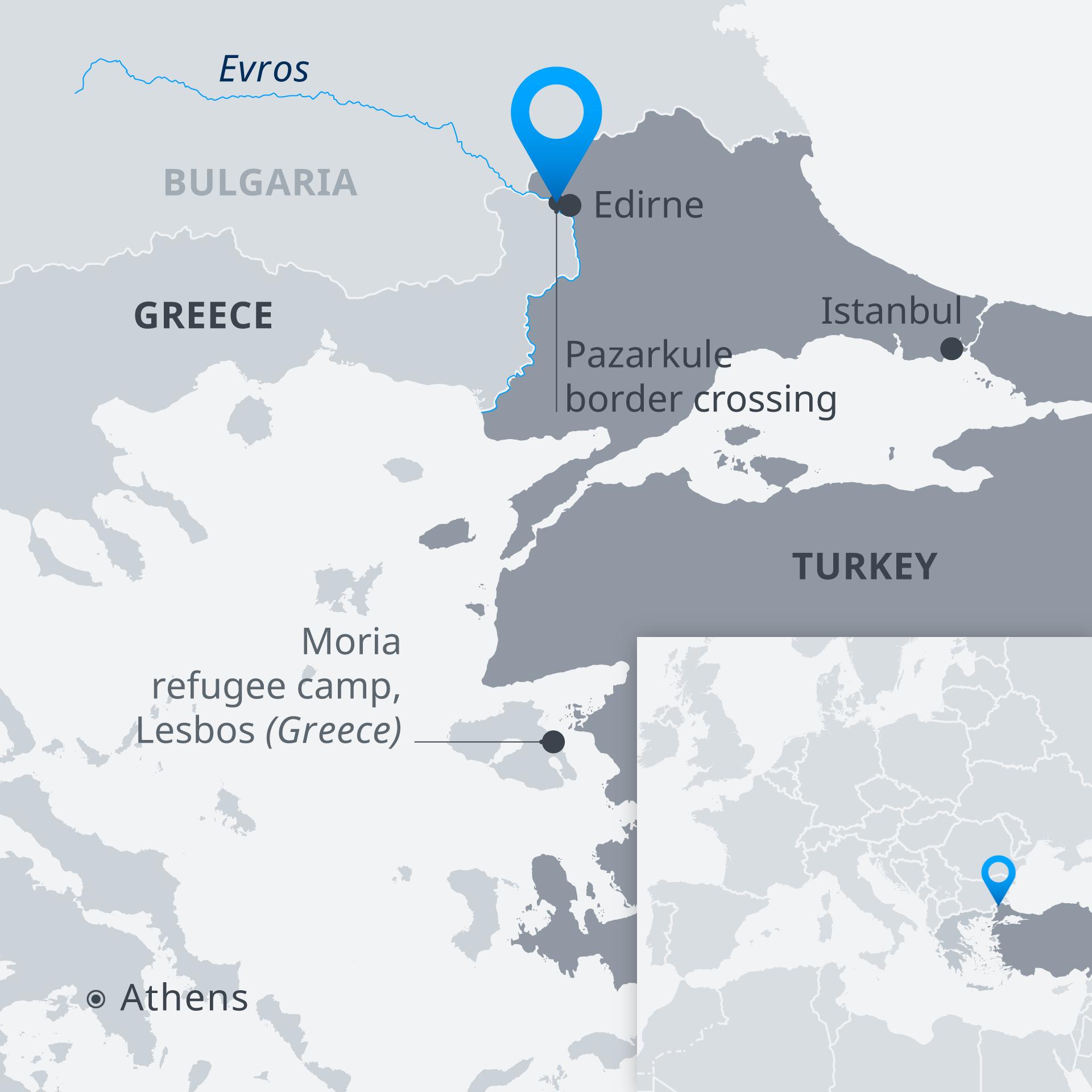 Infografik Türkei Griechenland Flüchtlinge EN