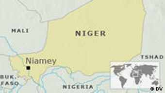 Karte Niger mit Hauptstadt Niamey DEUTSCH
