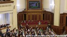 Ukraine Kiew Parlament Rücktritt Ministerpräsident Honcharuk