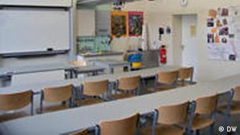 A newly painted classroom
