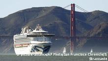 USA Kreuzfahrtschiff Grand Princess in Kalifornien