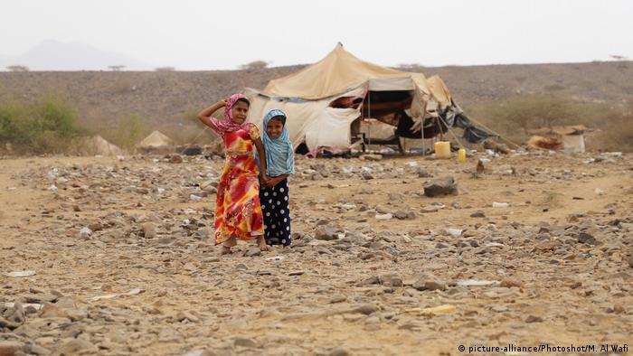 Jemen Kinder im Flüchtlingslager in der Provinz Hajjah