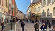 Zwei bestätigte Corona-Fälle in Banja Luka. Fotograf: Dragan Maksimovic (DW), 5.3.2020 in Banja Luka, Bosnien. Bosnien und Herzegowina, Straßenszenen. Volle Cafes, entspannte Lage in Banja Luka.