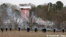 Griechische Sicherheitskräfte an der türkisch-griechischen Grenze