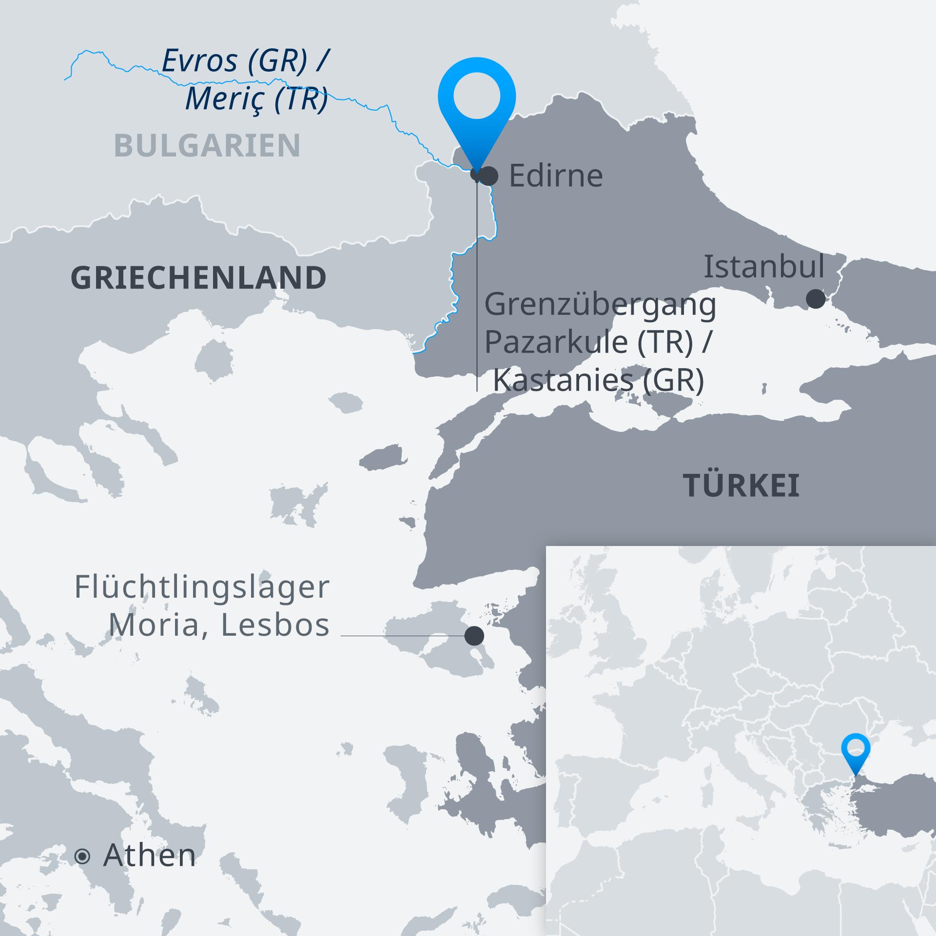 flüchtlingslager griechenland karte Keine Entspannung zwischen Griechenland und Türkei | Aktuell